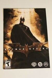 French Francais Batman Begins PS2 INSTRUCTION MANUAL ONLY ! excellent condition