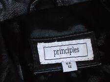 PRINCIPLES BlkRealLeatherSbBlazerSz12asNEW