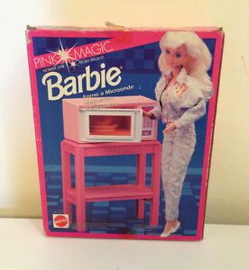 BARBIE FORNO A MICROONDE MICROWAVE OVEN MIKROWELLENHERD MAGNETRON #65019 MATTEL