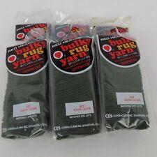 Red Heart Bulky Rug Hooking Latch Hook Yarn Dark Olive 622 Quantity 6