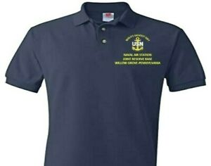 NAVAL AIR STATION JRB WILLOW GROVE PA  EMBROIDERED POLO SHIRT/SWEAT/JACKET.