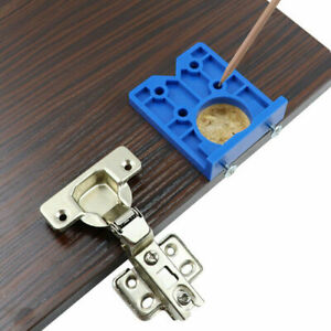 ABS Concealed Hinge Hole Jig Drill Bits Tool Fits Kitchen Cabinet Doors 35mm BU