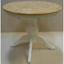 ETNICART.IT® Tavolo da pranzo shabby chic rotondo in massello - 90x90x80 - LEGNO