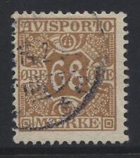 DENMARK 1907 Newspaper 68o brown FINE USED