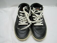 Vans Mid Top black Leather Shoes Vulcanized Mens Size 7.5