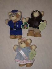 Furskins Possum Queen & Sheriff Jedgar Plus Inventor 1988 Lot of (3) Bears Nwt