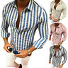 Men's Slim Fit V Neck Long Sleeve Muscle Tee T-shirt Casual Shirts Tops Blouse L