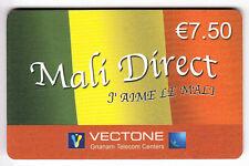 FRANCE  TELECARTE / PHONECARD  PREPAYEE .. 7€50 VECTONE MALI DIRECT 12/05 +N°