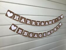Rustic Engagement Party Decorations Personalised Bunting Banner Sign Custom Made