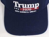 TRUMP 2020 MAGA Keep America Great Hat Donald Trump Cap BLUE