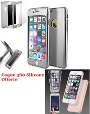 PROMO Coque Intégrale IPHONE 5/5S/SE Argent & Verre Trempé + Coque 360 Silicone