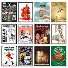 Alcohol Retro Metal Signs/Plaques Man Cave, Cool Novelty Gift, Bar/ Pub 18