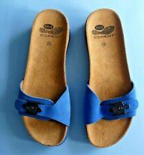 SCHOLL SUARI BIOPRINT SANDALS SHOES ~ BLUE SUEDE ~ UK 5 / EU 38 ~ NEW IN BOX