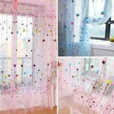 1PC  Flower Heart Balloon Tulle Voile Curtain- Kids Room