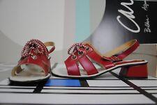 epomeo Sandale Schnürung rot Pumps 40 RAR 60er TRUE VINTAGE red heels 60s MOD