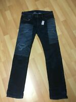 NWT Mens Diesel Prototype Butter Soft Stretch Denim Dark Blue Slim W32 L32 H7