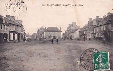 SAINT-MEËN 12 la place magasin de glaces et toiles cirées timbrée 1912