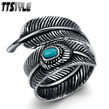 Feather Stainless Steel Fashion Rings