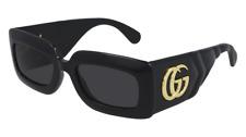 Neues AngebotGucci Sonnenbrille GG0811S  001 Schwarz - Grau - Frau