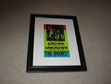 "Framed The Doors Quote Mini Poster,Jim Morrison 1969, 14""x17"" Beautiful + RARE!"