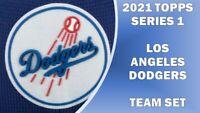 2021 TOPPS SERIES 1 LOS ANGELES DODGERS 20-CARD TEAM SET RUIZ WHITE RC BETTS LUX