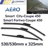 3er Komplett-Set Aero Scheibenwischer Vorne 530/530mm & Hinten 325mm Smart