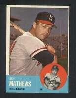 1963 Topps #275 Eddie Mathews EXMT+ Braves 123382