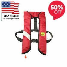 New Year Sale Life Jacket M-33 Manual Inflatable Pfd Universal Boating Swimming