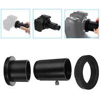 "Telescope Camera Adapter 1.25"" Extension Tube T Ring for Nikon DSLR Metal Black"