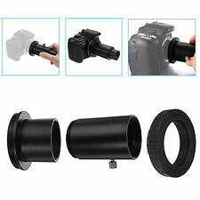 "Telescope Camera Adapter 1.25"" Extension Tube T Ring for Nikon DSLR Metal Black"