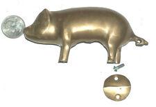 """Vintage Miniature 3.75 """" Long 7.2oz non Marqué Laiton Debout Animal Cochon"""