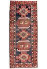 Vintage Persìan Sarab Runner 5'x11' Blue Wool Tribal Hand-Knotted Oriental Rug