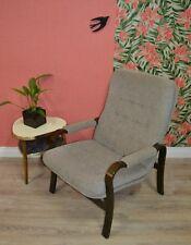 vintage 60s Lounge Chair Sessel feiner Lehnstuhl Easy Chair modern braun/beige