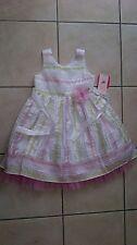 jona michelle party dress age 5 white/pink/green *BNWT*