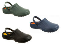 Mens EVA Clogs Slip-On Gardening, Pool, Shower Mules 3 Colours 7 to 12