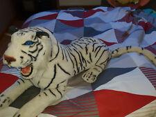 Grande peluche tigre blanc