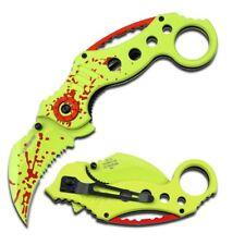 "Z HUNTER 5"" Spring Assisted Pocket Knife Zombie Blood Karambit Blade NEW COOL"