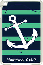 Teal Green & Navy Anchor Hebrew 6:19 on iPad 2/3/4 Black/White Case Cover