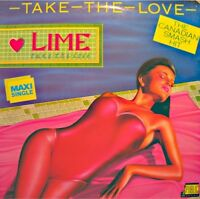 ++LIME take the love/instrumental MAXI 1986 PUBLIC SOUND VG++
