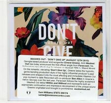 (EC428) Washed Out, Don't Give Up - 2013 DJ CD