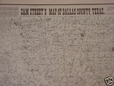 old DALLAS TEXAS SAM STREET'S REPLICA 1901 MAP gun trade day antique show RESALE