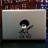 Disco Afro guy apple macbook pro skin vinyl decal
