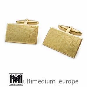 585er Gold Manschettenknöpfe 14ct gold cuff links 12,15 g 14 Karat 14kt