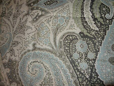 """SCHUMACHER """"CAMBAY PAISLEY"""" 2.2 metres designer curtain/upholstery fabric OYSTER"""