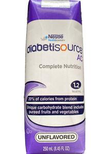 Nestle Diabetisource AC Tube Feeding Formula Unflavored  24 Ct Expires 8/23/21