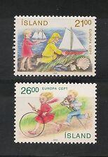 Iceland #675-676 VF MNH - 1989 21k To 26k Children's Games - SCV $14.00