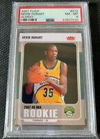 KEVIN DURANT 2007 Fleer Glossy Parallel #212 PSA 8 NM-MT RC Rookie Sonics Nets