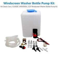 Universal 12V Windshield Washer Pump Kit Wiper Systems Reservoir Jet Switch Set