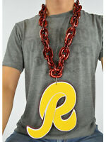 New NFL Washington Redskins RED Burgundy Fan Chain Necklace Foam Magnet - 2 in 1