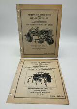 Allis Chalmers Parts List Cultivator No. 80 C Series Set Up Lot Of 2 19-2685DR